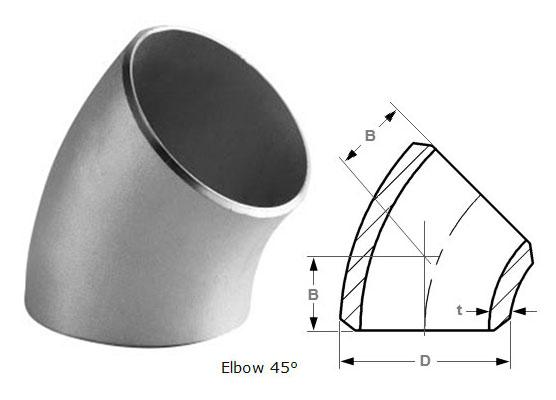 45 Degree Long Radius Elbow